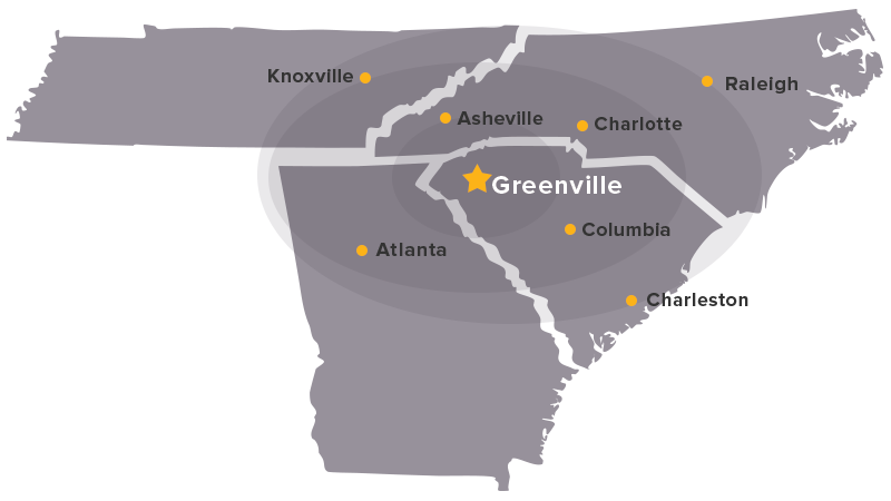 Did you know? Greenville is at the center of more than 10% of the housing production in the U.S.